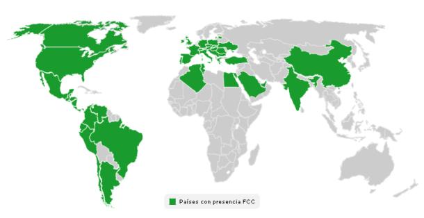 Fuente: www.fcc.es - Presencia Internacional de FCC