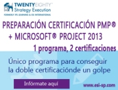 doble certificacion pmp y MSProject