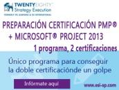 doble certificacion pmp y MSProject